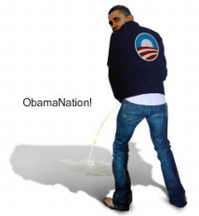 obama peeing on usa