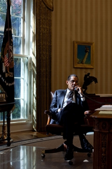 Barack-Obama-On-The-Phone-In-The-Oval-Office