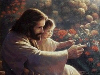 jesus_and_child_in_garden_7