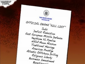 Cartoon - Obama's Kill List