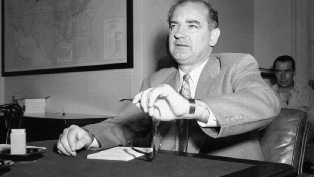 Sam Tanenhuas lists Wisconsin Sen. Joe McCarthy and several obscure archconservatives as being the fathers of the modern Republican policy. (AP Photo)