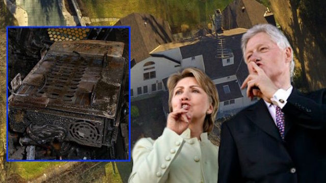 Fire! Fire!  … in the hole! Hillary-house-fire-suspicious-678x381